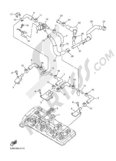 Yamaha FJR1300A 2005 AIR INDUCTION SYSTEM