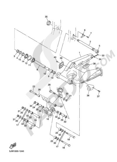 Yamaha FJR1300A 2005 REAR ARM