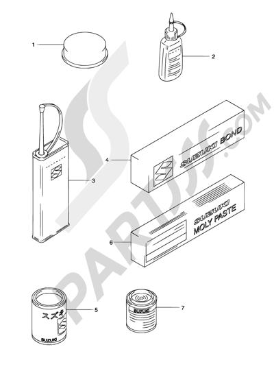 Suzuki Burgman An650 2005 Dissassembly Sheet Purchase Genuine Spare