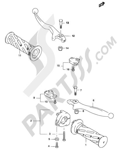 Suzuki KATANA AY50 2001 36 - HANDLE GRIP (MODEL AY50W)