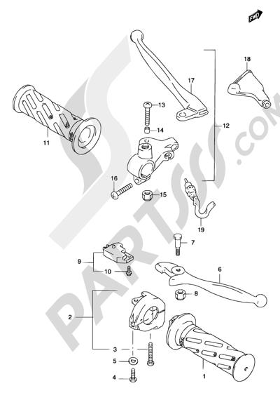 Suzuki KATANA AY50 2001 36A - HANDLE GRIP (MODEL AY50)