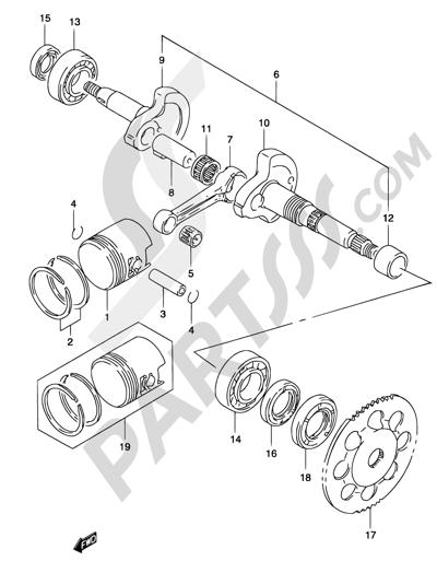 Suzuki KATANA AY50 2001 4B - CRANKSHAFT (MODEL AY50 K3/K4)