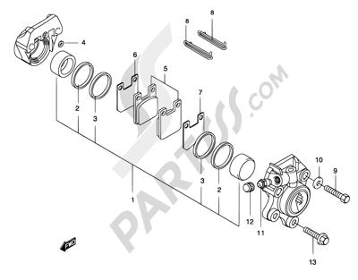 Suzuki KATANA AY50 2001 42 - FRONT CALIPER (AJP)
