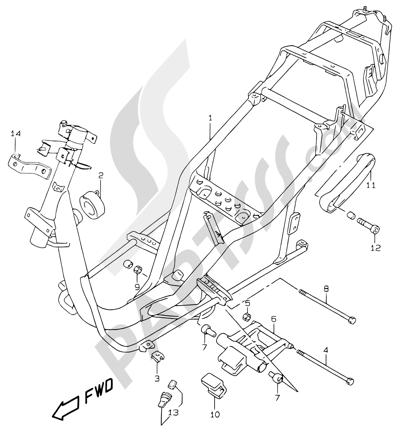 Suzuki KATANA AY50WR 2000 25 - FRAME (MODEL V/W/X/Y)