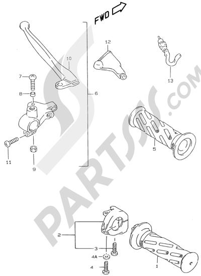 Suzuki KATANA AY50WR 2000 36 - HANDLE GRIP