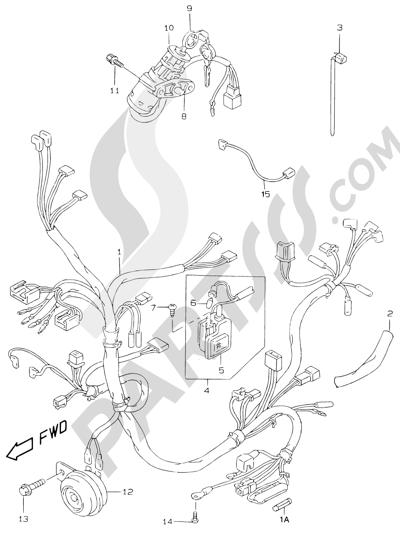 Suzuki KATANA AY50WR 2000 23 - WIRING HARNESS (MODEL V/W/X/Y)