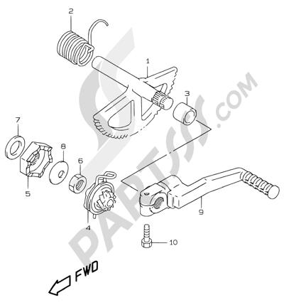 Suzuki KATANA AY50WR 2000 14A - KICK STARTER (MODEL X/Y/K1)
