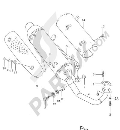Suzuki KATANA AY50WR 2000 7 - MUFFLER ( MODEL V, MODEL W EXCEPT P04)