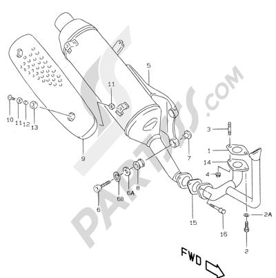 Suzuki KATANA AY50WR 2000 7A - MUFFLER (MODEL W P04)