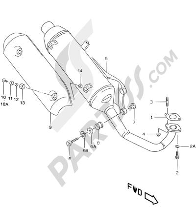 Suzuki KATANA AY50WR 2000 7F - MUFFLER (MODEL  K1 P26)