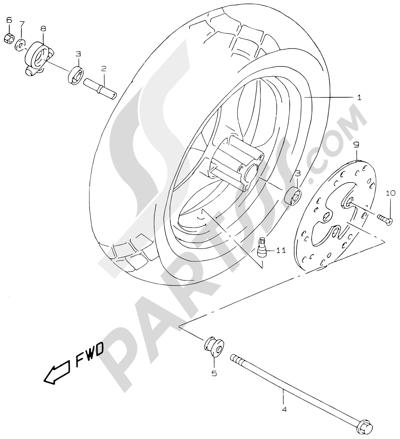 Suzuki KATANA AY50WR 2000 40A - FRONT WHEEL (MODEL Y)