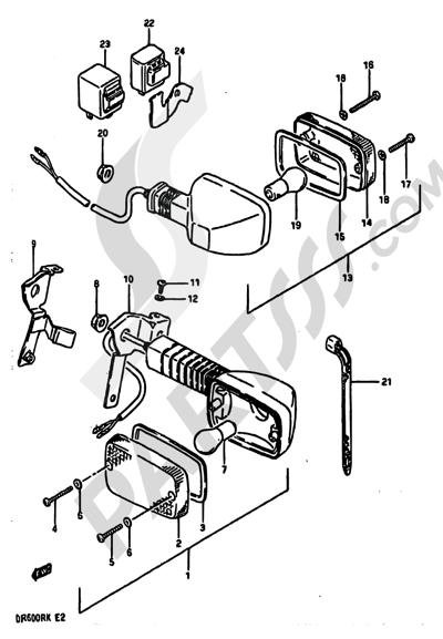 Suzuki Dr600r 1989 Dissassembly Sheet Purchase Genuine Spare Parts