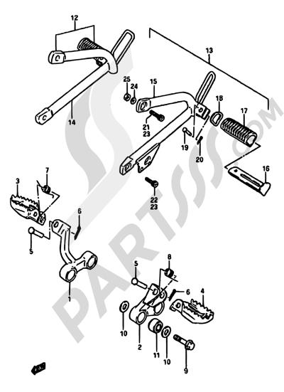 Suzuki Dr600s 1986 Dissassembly Sheet Purchase Genuine Spare Parts