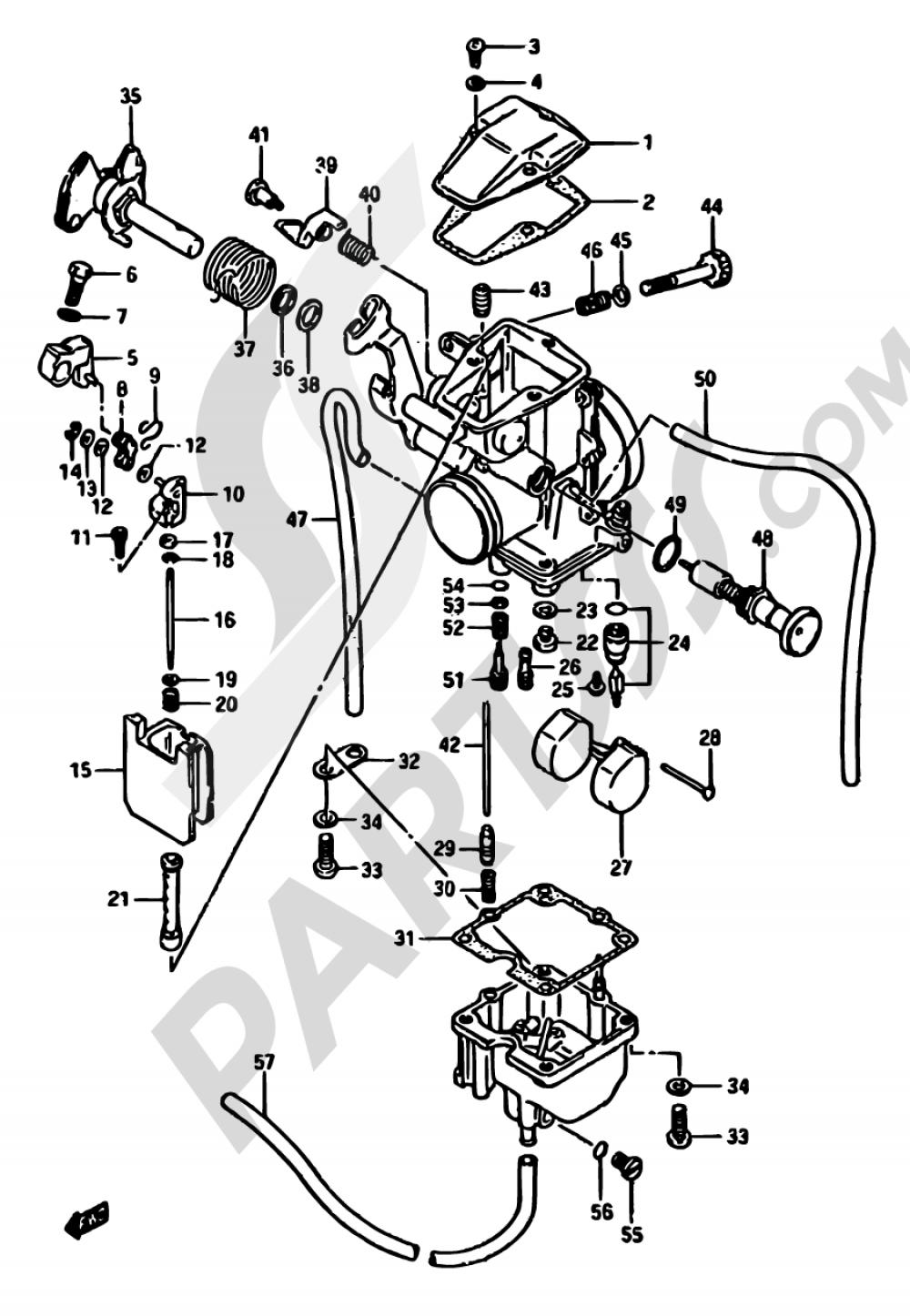 10 - CARBURETOR Suzuki DR600S 1987