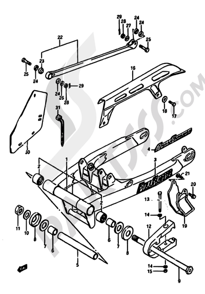 Suzuki Dr600s 1988 Dissassembly Sheet Purchase Genuine Spare Parts