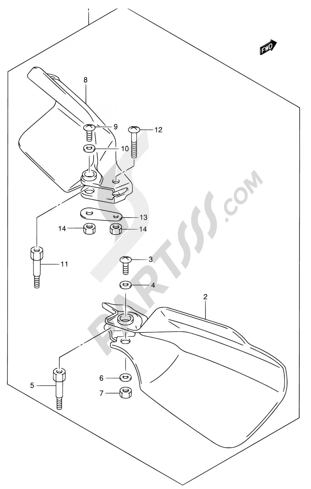45C - KNUCKLE COVER (DR-Z400EK1/EK2/EK3/EK4 E24 OPT) Suzuki DR-Z400 2013