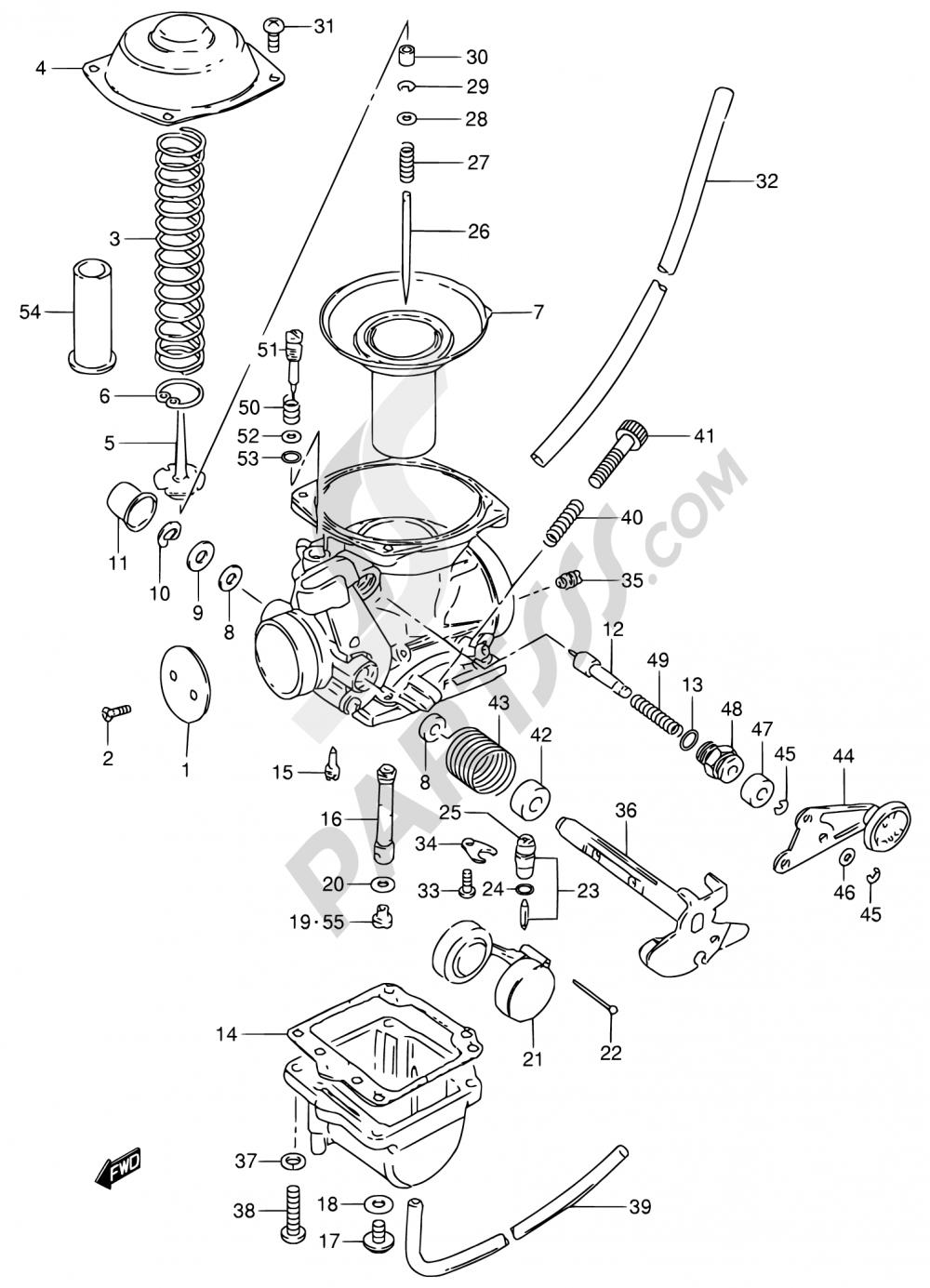 10 - CARBURETOR Suzuki GN250 1992