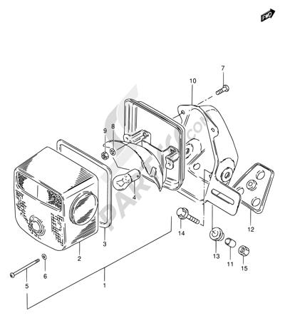 Suzuki Gn250 1996 Dissassembly Sheet Purchase Genuine Spare Parts