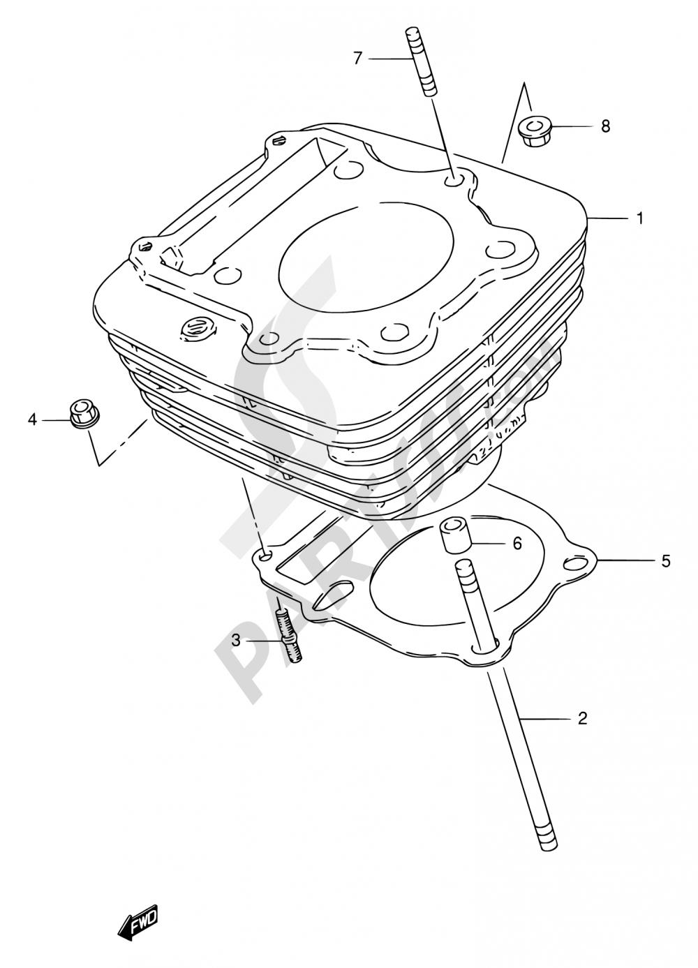 2 Cylinder Suzuki Gn250 1996 Gn 250 Wiring Harness Diagram Engine