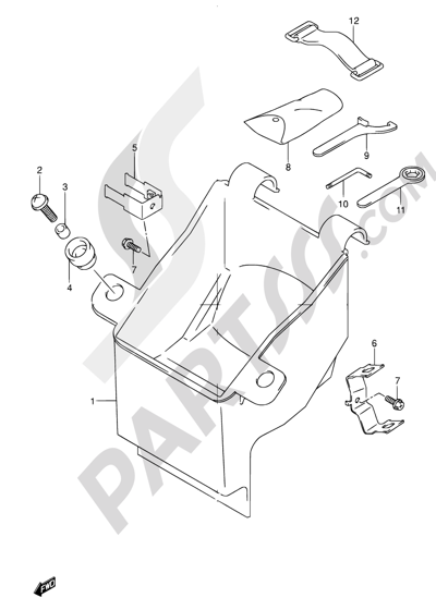 Suzuki Bandit Gsf600 2001 Dissassembly Sheet Purchase Genuine Spare