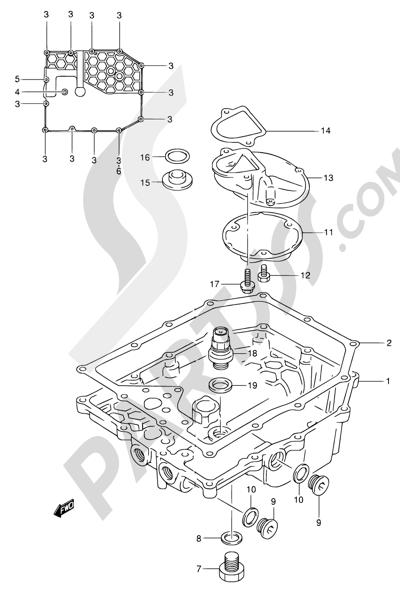 Suzuki BANDIT GSF600 2001 Dissassembly sheet  Purchase genuine spare