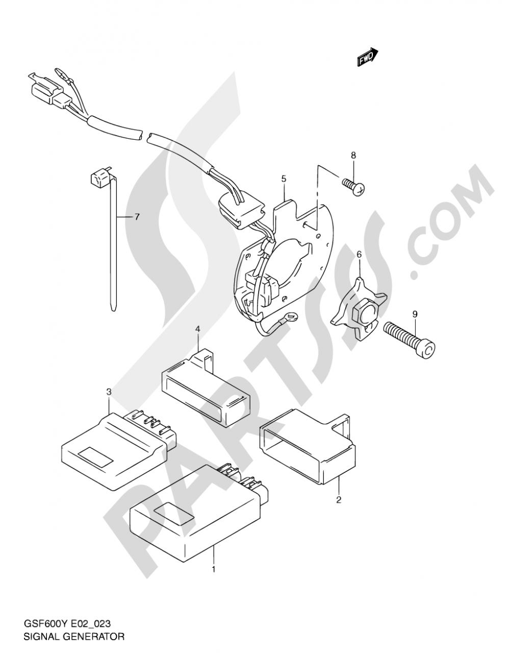 23 - SIGNAL GENERATOR (MODEL Y/K1/K2/K3) Suzuki BANDIT GSF600 2003