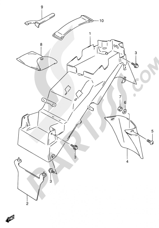 41A - REAR FENDER (MODEL T/V/W/X) Suzuki BANDIT GSF600 1998