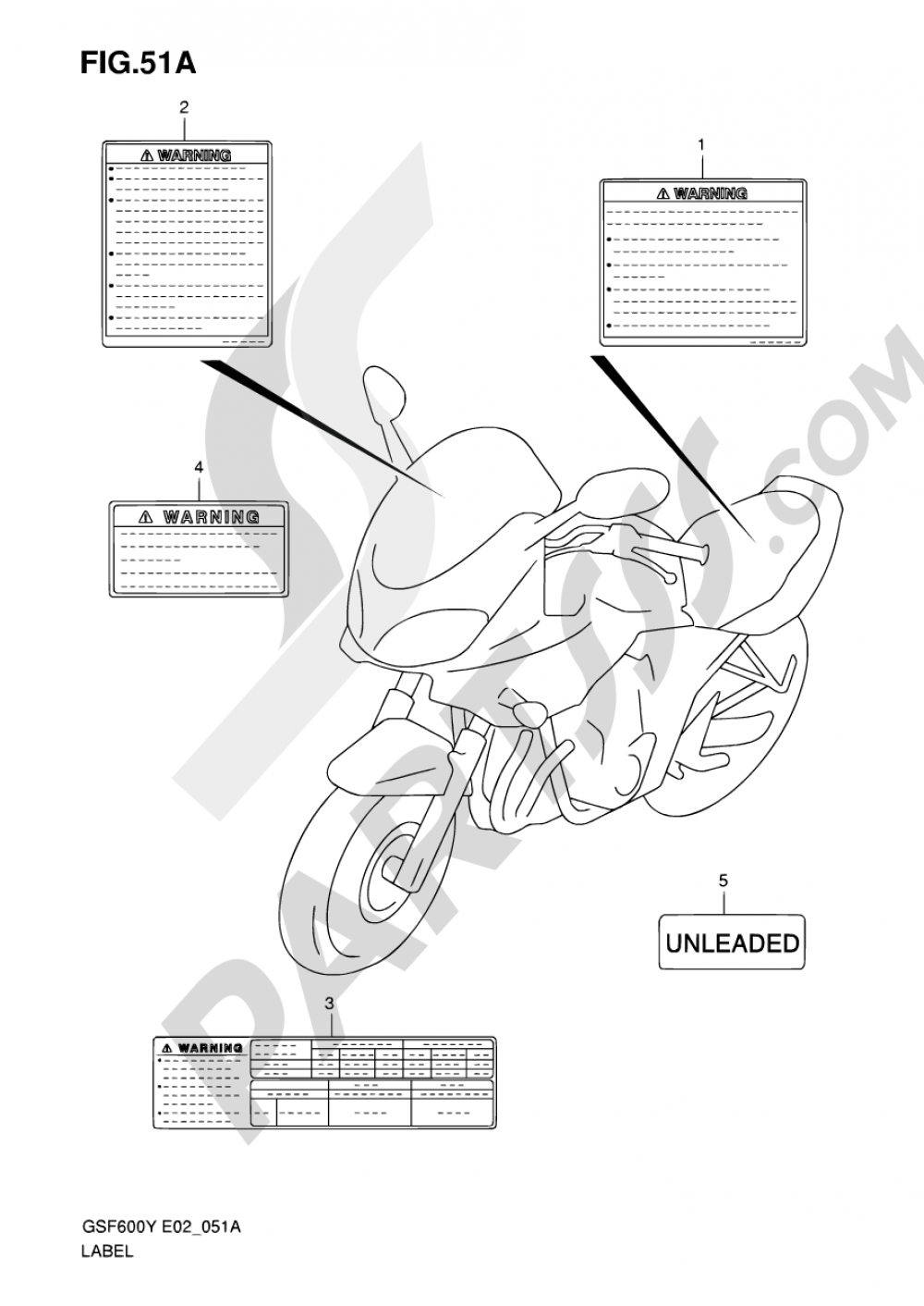 Wiring Diagram 2001 Gsf 600s Library 51a Label Model K1 Suzuki Bandit Gsf600s