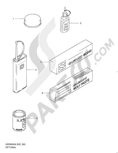 Suzuki Gsr600 2007 Dissassembly Sheet Purchase Genuine Spare Parts