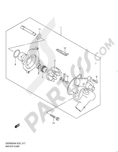 Suzuki Gsr600 2007 Dissassembly Sheet Purchase Genuine Spare Parts