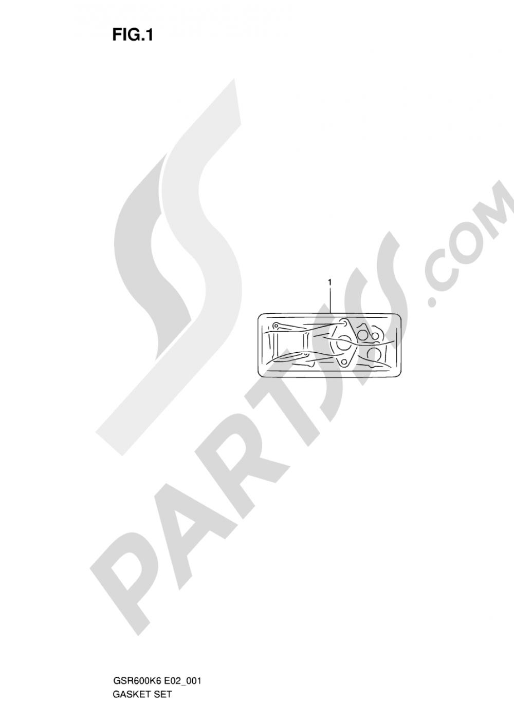 1 - GASKET SET Suzuki GSR600 2007
