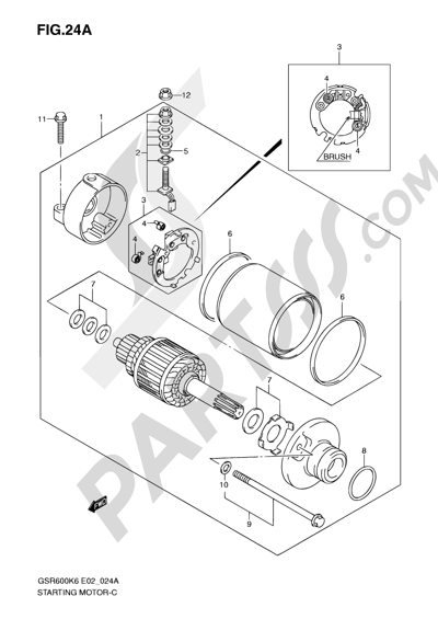 Suzuki Gsr600 2009 Dissassembly Sheet Purchase Genuine Spare Parts
