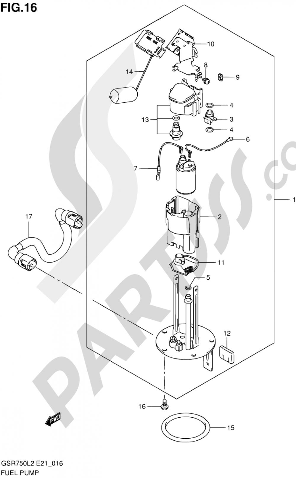 16 - FUEL PUMP Suzuki GSR750 2012