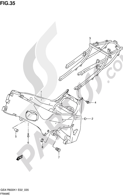 Suzuki GSX-R600 2001 35 - FRAME
