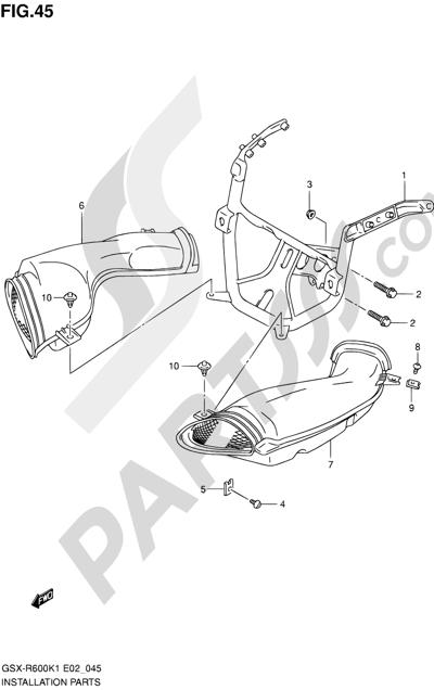 Suzuki GSX-R600 2001 45 - INSTALLATION PARTS