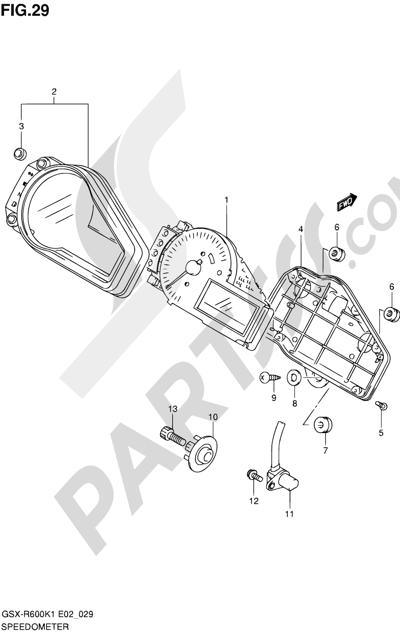 Suzuki GSX-R600 2001 29 - SPEEDOMETER