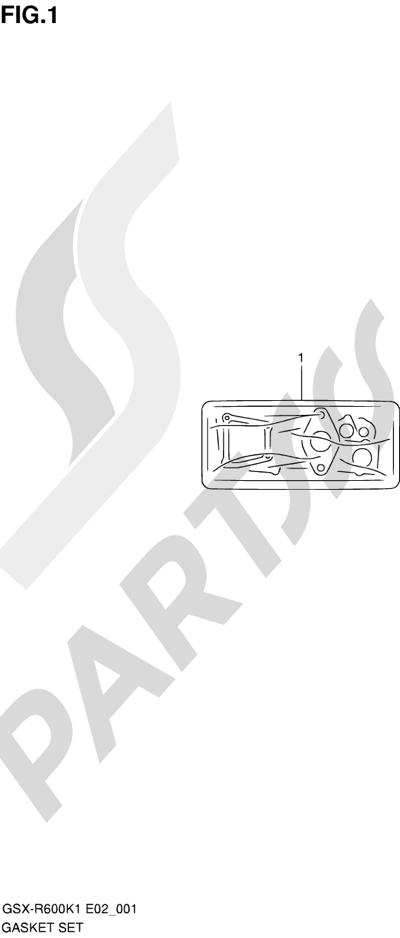 Suzuki GSX-R600 2001 1 - GASKET SET