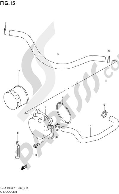 Suzuki GSX-R600 2001 15 - OIL COOLER