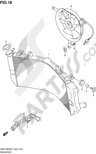 Suzuki GSX-R600 2001 18 - RADIATOR