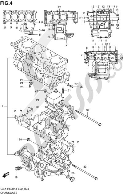 Suzuki GSX-R600 2001 4 - CRANKCASE
