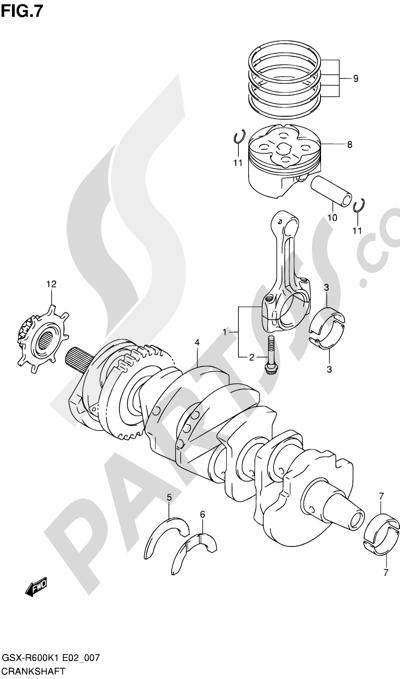 Suzuki GSX-R600 2001 7 - CRANKSHAFT