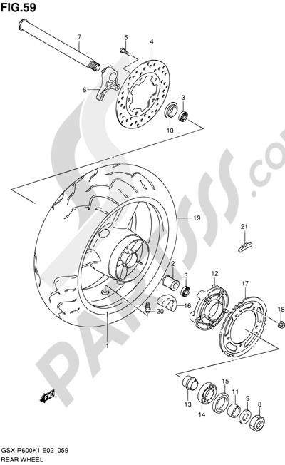 Suzuki GSX-R600 2001 59 - REAR WHEEL