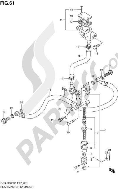 Suzuki GSX-R600 2001 61 - REAR MASTER CYLINDER