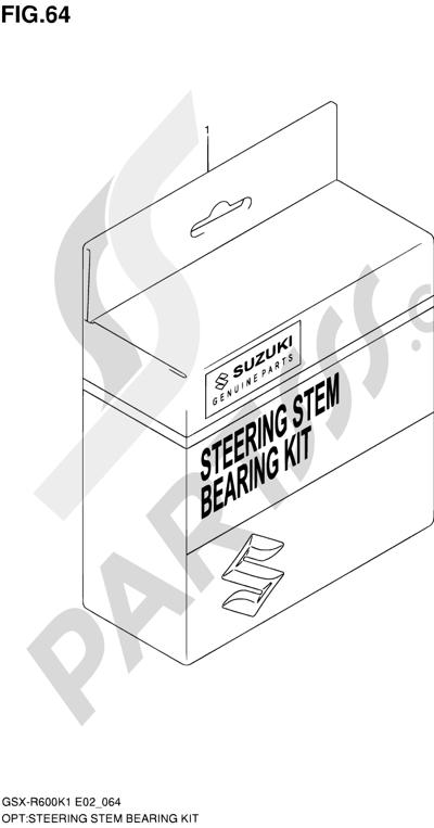Suzuki GSX-R600 2001 64 - STEERING STEM BEARING KIT