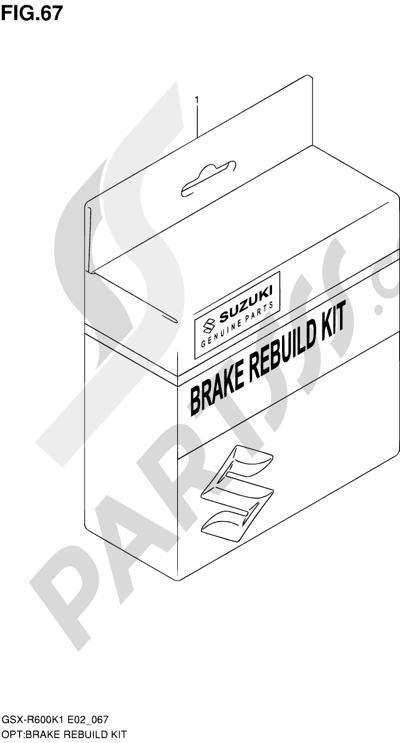 Suzuki GSX-R600 2001 67 - BRAKE REBUILD KIT