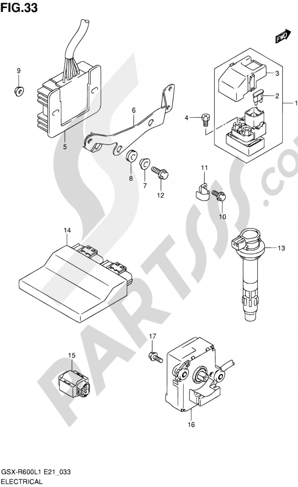 33 - ELECTRICAL (GSX-R600UEL1 E21) Suzuki GSX-R600 2011