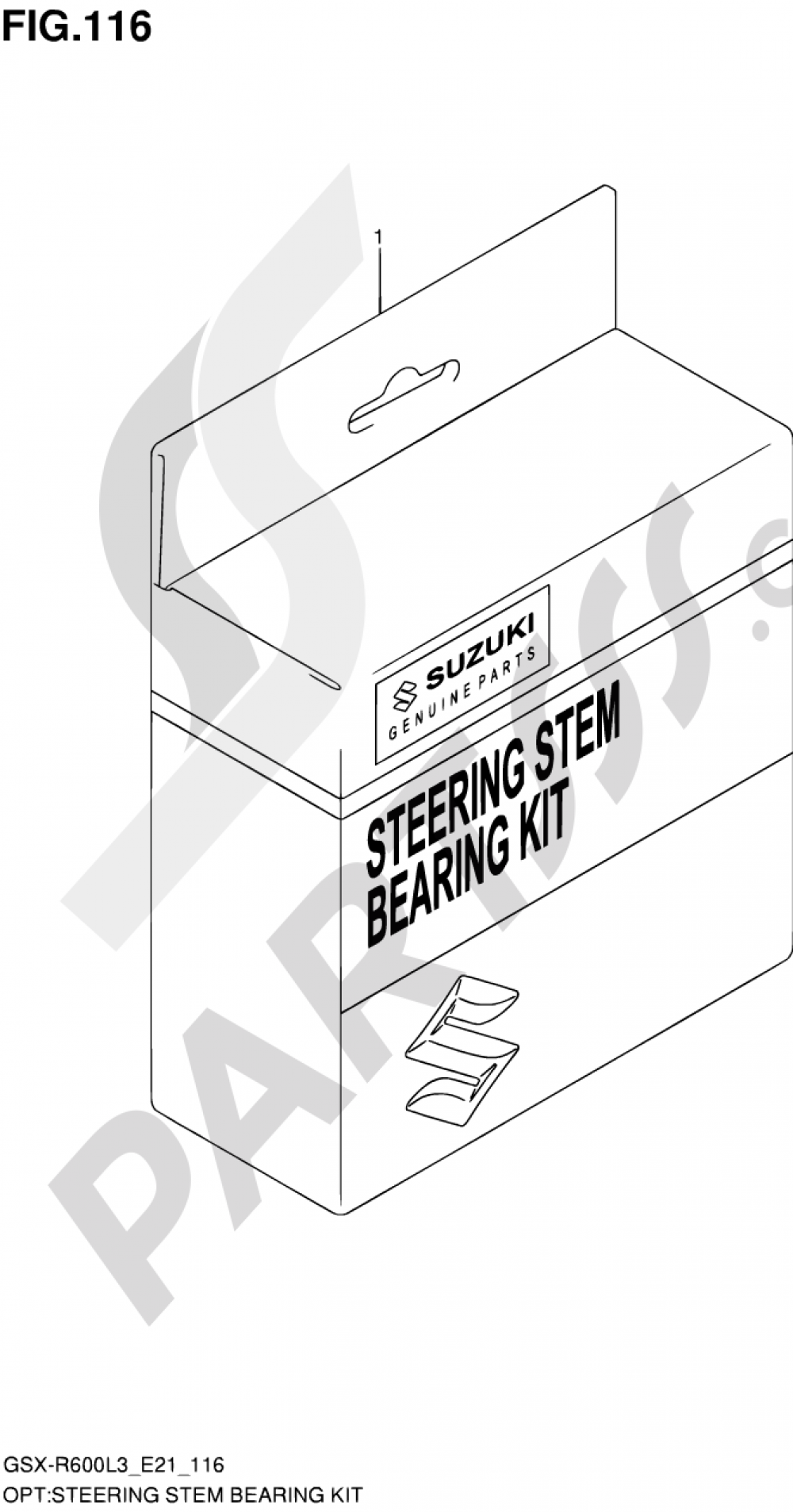 116 - STEERING STEM BEARING KIT Suzuki GSX-R600 2013