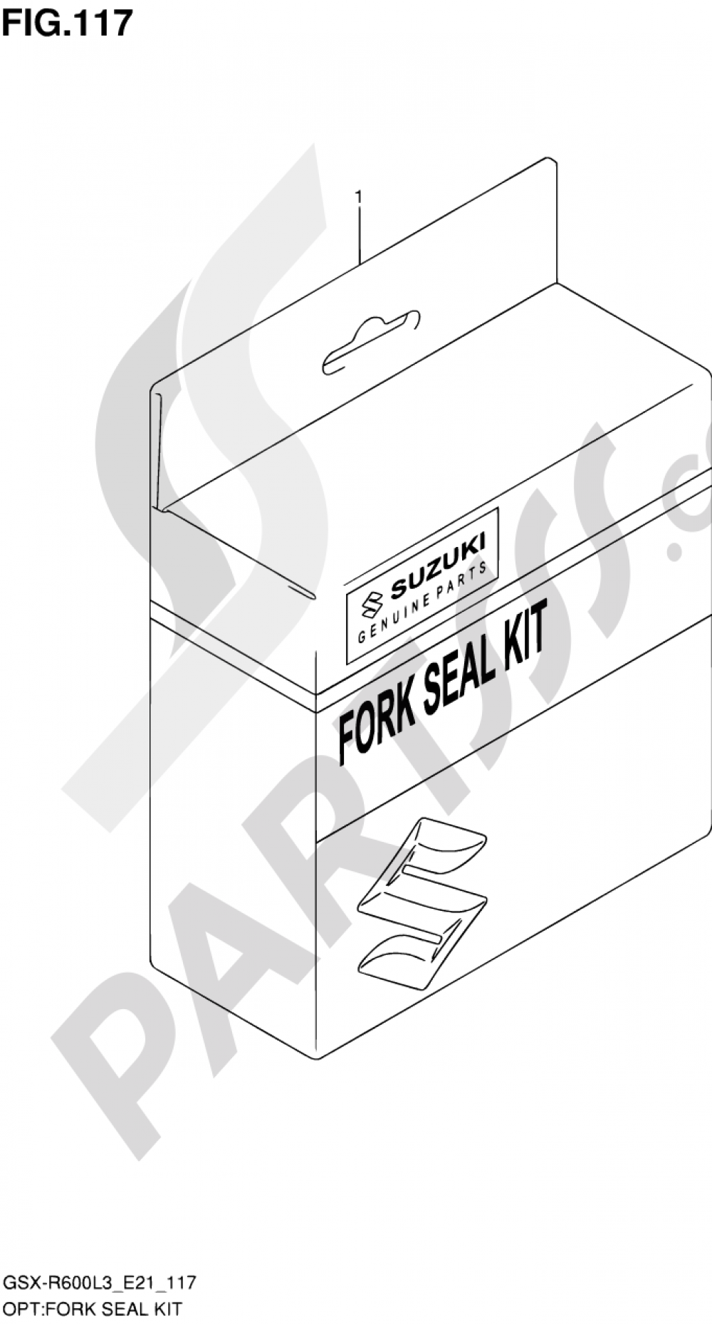 117 - FORK SEAL KIT Suzuki GSX-R600 2013