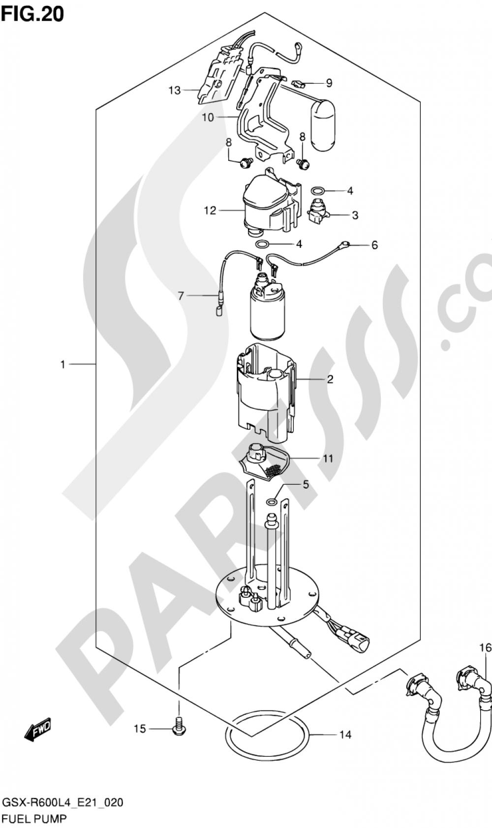 20 - FUEL PUMP Suzuki GSX-R600 2014
