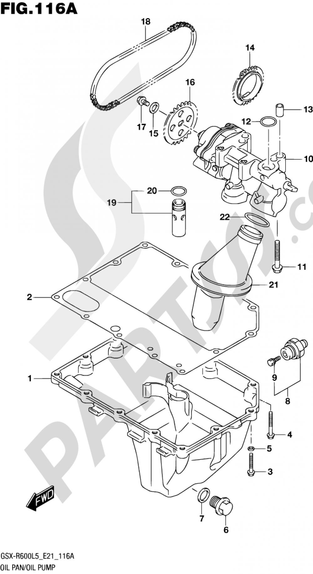 116A - OIL PAN/OIL PUMP Suzuki GSX-R600 2015